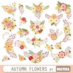 Floral clipart autumn