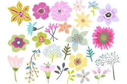 Floral clipart beautiful flower
