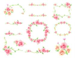 Rustic clipart coral flower