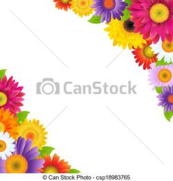 Floral clipart colorful flower