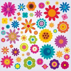 Floral clipart colourful flower