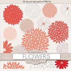 Dahlia clipart september flower