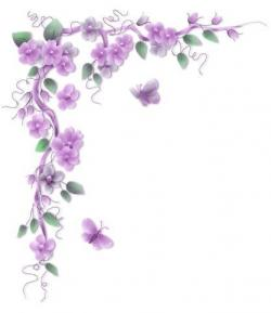 Purple Rose clipart corner