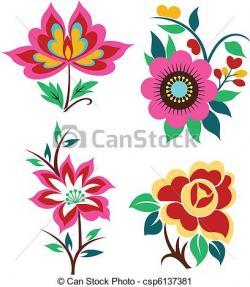 Floral clipart decoration