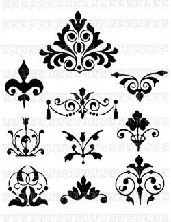 Damask clipart decorative