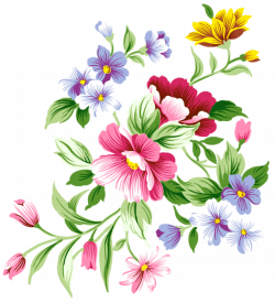Floral clipart decorative symbol