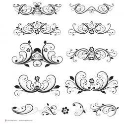 Swirl clipart embellishment