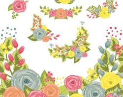 Floral clipart digital