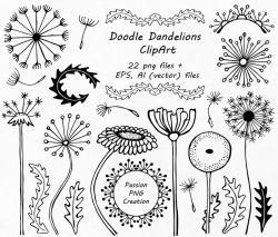 Dandelion clipart doodle