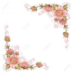 Floral clipart elegant flower