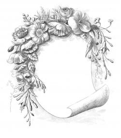 Wiccan clipart floral scroll