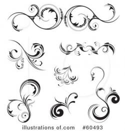 Floral clipart floral scroll