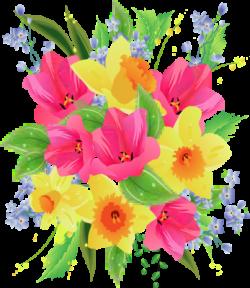 Colorful clipart flower bouquet