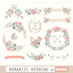 Romance clipart wedding invitation