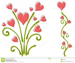Floral clipart flower heart