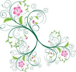 Floral clipart flower ornament