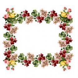 Floral clipart frame