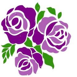 Purple Rose clipart gambar