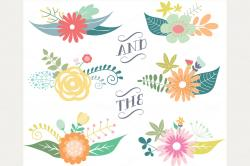 Floral clipart graphic