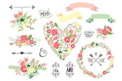Illustration clipart wedding flower
