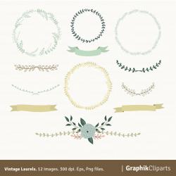 Hipster clipart laurel wreath