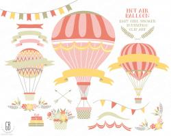 Hot Air Balloon clipart old fashioned