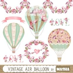 Hot Air Balloon clipart hot hair