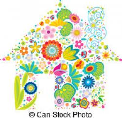 Floral clipart house