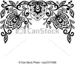 Floral clipart lace