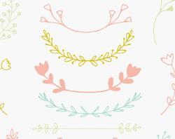 Floral clipart laurel