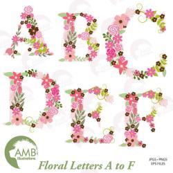 Floral clipart letter