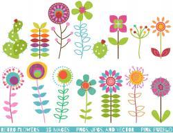 Red Flower clipart adobe illustrator