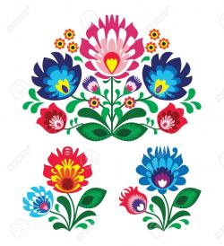 Folk clipart mexican flower