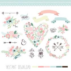 Floral clipart modern arrow