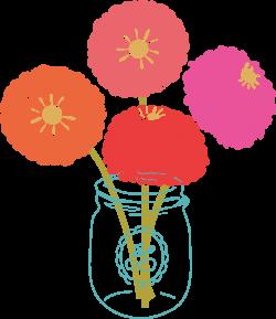 Marigold clipart modern flower