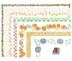 Floral clipart name frame
