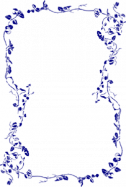 Floral clipart navy blue