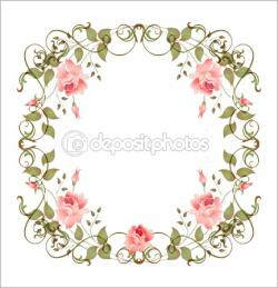 Vintage Flower clipart gift card