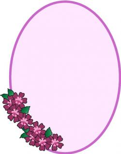 Floral clipart oval frame