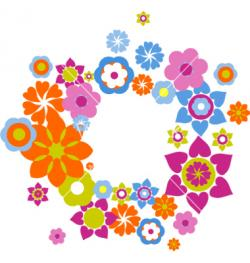 Hippie clipart retro flower