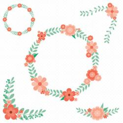 Floral clipart retro flower