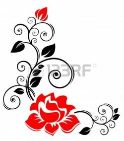 White Rose clipart rose vine