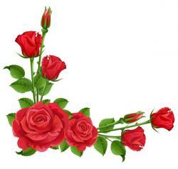 Floral clipart rose border