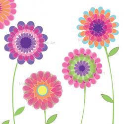 Gerbera clipart modern flower
