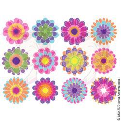 Floral clipart scrapbook