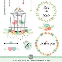 Birdcage clipart wedding birdcage