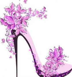 Floral clipart shoe flower