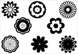 Floral clipart silhouette