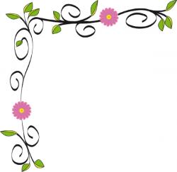 Floral clipart simple flower border