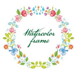 Floral clipart spring wreath